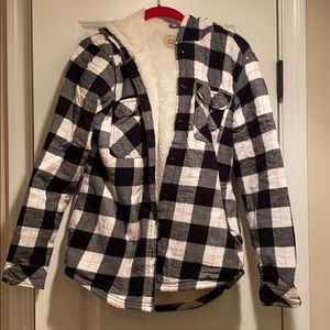 Warm flannel with hood